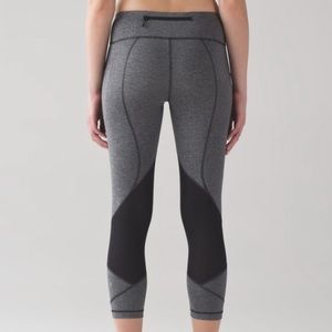 Lululemon Pace Rival Crop In Heathered Gray 4